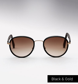Graz Stray III sunglasses - black and gold