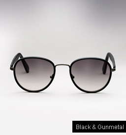 Graz Stray III sunglasses - black and gunmetal
