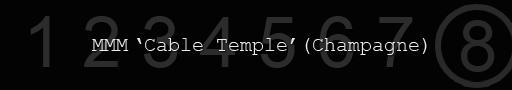 Maison Martin Margiela Cable Temple Sunglasses - Champagne
