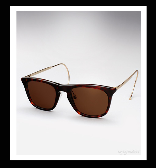 Maison Martin Margiela Cable Temple Sunglasses - Dark Turtle