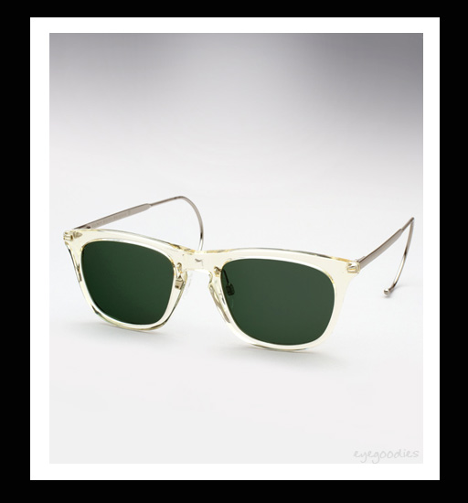 Maison Martin Margiela Cable Temple Sunglasses - Transparent Yellow