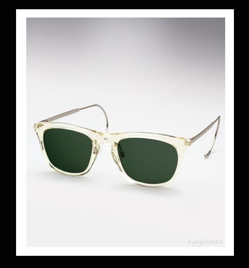 Maison Martin Margiela Cable Temple Sunglasses - Transparent Yellow