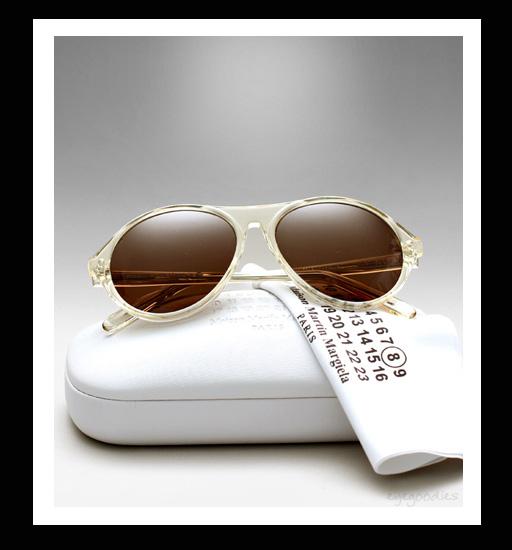 Maison Martin Margiela Replica France Sunglasses - Transparent Yellow