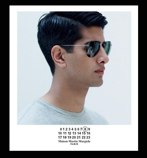 Maison Martin Margiela Rimless Pilot Sunglasses - Green