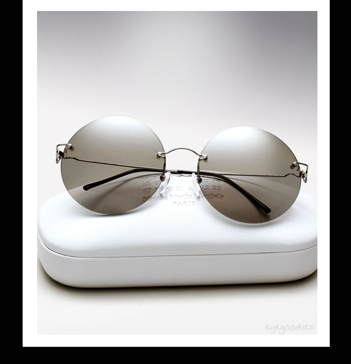 Maison Martin Margiela Rimless Round Sunglasses - Light Grey
