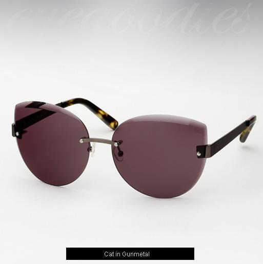 House of Harlow Cat Sunglasses - Gunmetal