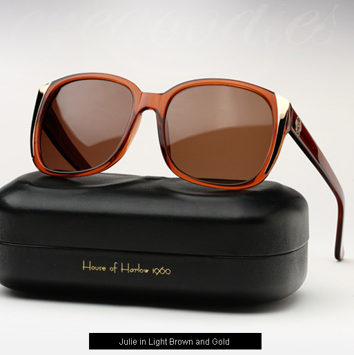 House of Harlow Julie Sunglasses - Light Brown and Gold