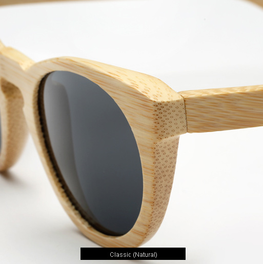 llesteva Leonard Wood Sunglasses - natural