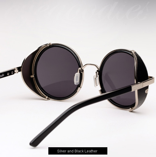 Ksubi Atlas sunglasses - Silver and Black Leather
