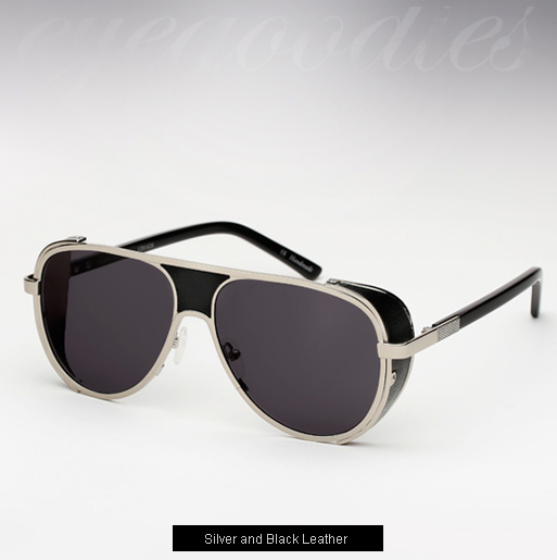 Ksubi Cisco sunglasses - Silver and Black Leather