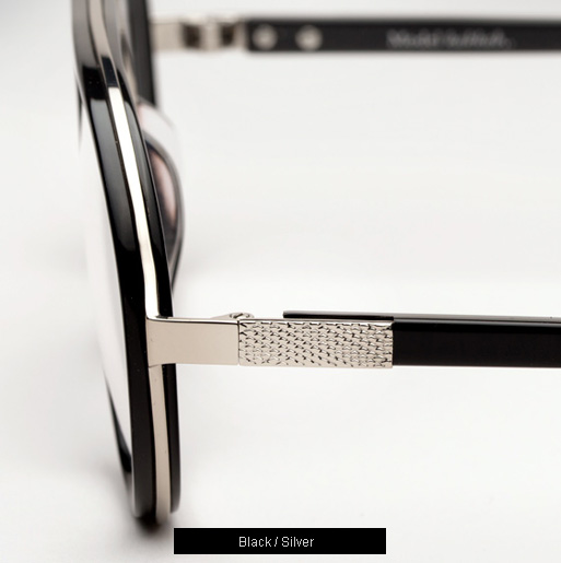 Ksubi Kakkab eyeglasses - Black and Silver