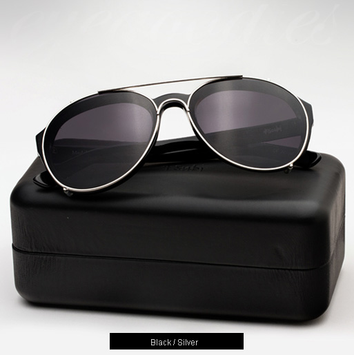 Ksubi Kappa sunglasses - Black and Silver