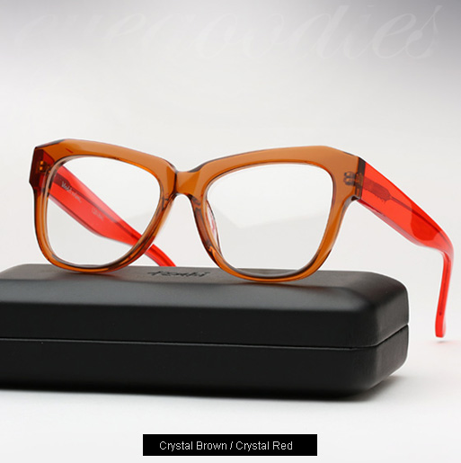 Ksubi Volans eyeglasses - brown and red
