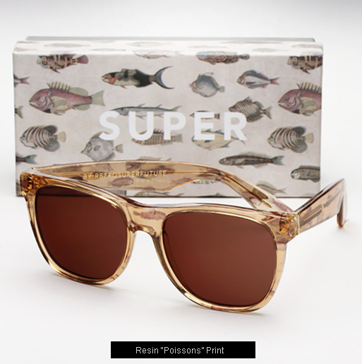Super Resin poissons print sunglasses