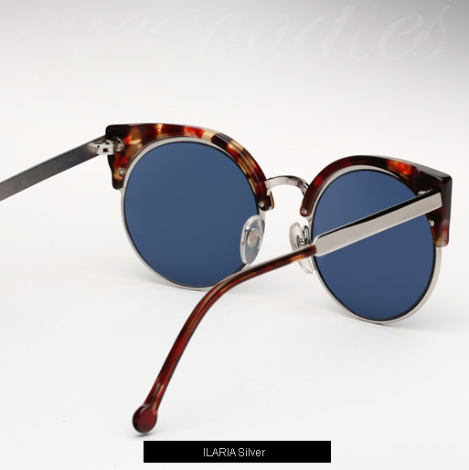 Super Lucia Ilaria Silver sunglasses