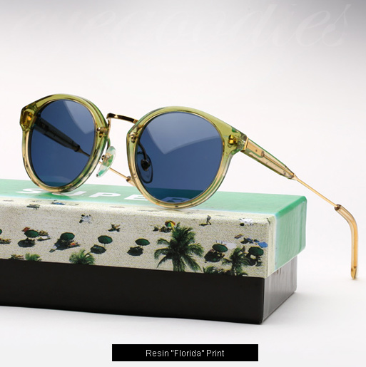 Super Resin Florida print sunglasses