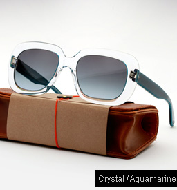 Garrett Leight Amoroso sunglasses - Crystal / Aquamarine