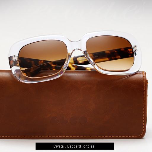 Garrett Leight Amoroso sunglasses - Crystal / Leopard Tortoise