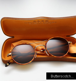 Garrett Leight Harrison sunglasses - Butterscotch / Sapele Tortoise
