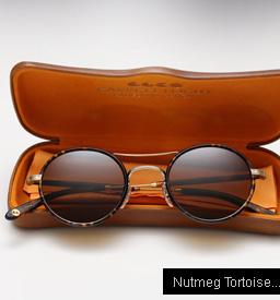 Garrett Leight Harrison sunglasses - Nutmeg Tortoise / Matte Spotted Tortoise