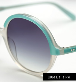 Garrett Leight Nowita sunglasses - Blue Belle Ice