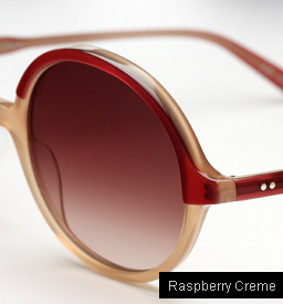 Garrett Leight Nowita sunglasses - Raspberry Creme