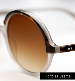 Garrett Leight Nowita sunglasses - Tortoise Shell Creme
