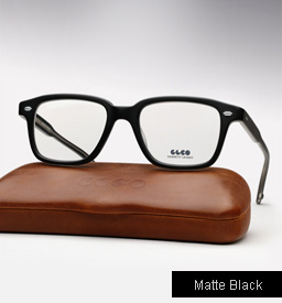 Garrett Leight Westminster eyeglasses - Matte Black