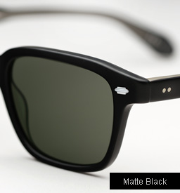 Garrett Leight Westminster sunglasses - Matte Black