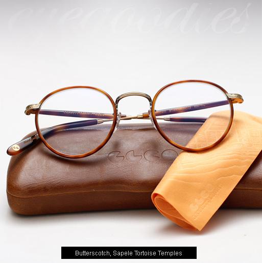 Garrett Leight Wilson eyeglasses - Butterscotch / Sapele Tortoise
