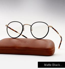 Garrett Leight Wilson eyeglasses - Matte Black / Matte Spotted Tortoise