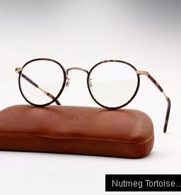 Garrett Leight Wilson eyeglasses - Nutmeg Tortoise / Matte Spotted Tortoise