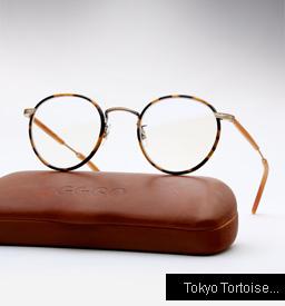 Garrett Leight Wilson eyeglasses - Tokyo Tortoise / Amber Honey