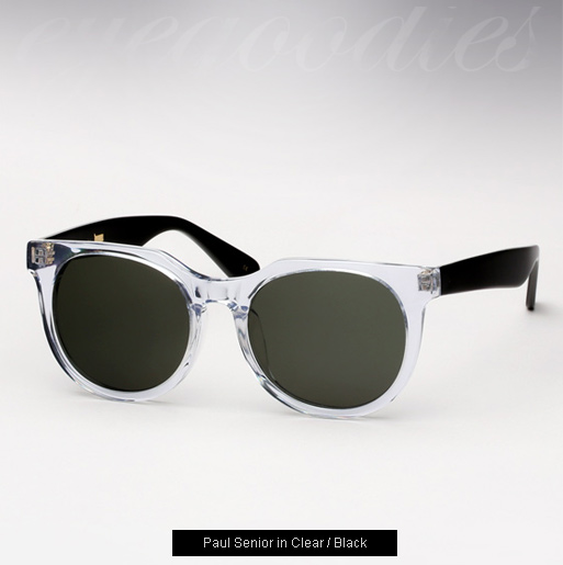 Han Paul Senior sunglasses - Clear / Black