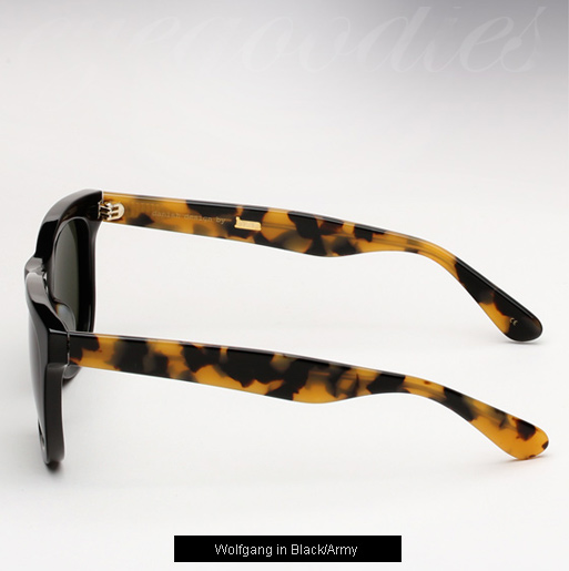 Han Wolfgang sunglasses - Black / Army Tortoise