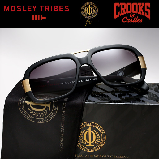Mosley Tribes X Crooks & Castles Sunglasses - Castellano