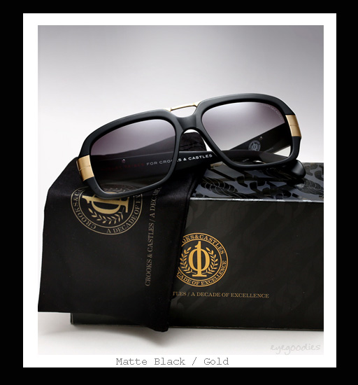 Mosley Tribes X Crooks & Castles - Castellano sunglasses - Matte Black