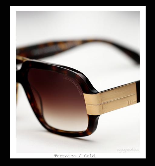 Mosley Tribes X Crooks & Castles - Castellano sunglasses - Tortoise