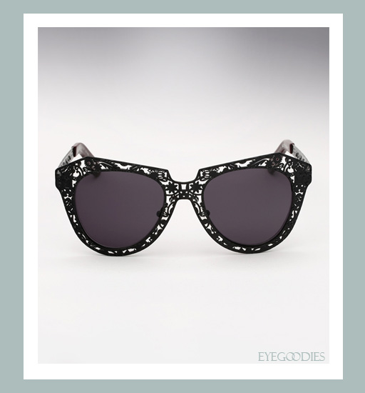 Karen Walker Number One Critter Sunglasses-Black