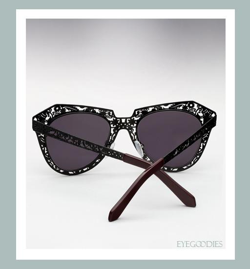 Karen Walker Number One Critter Sunglasses-Black