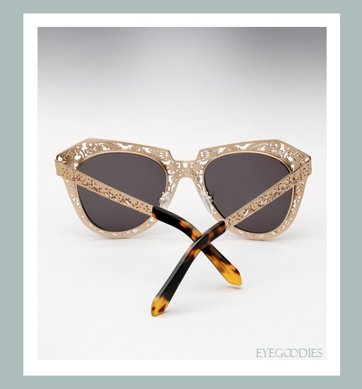 Karen Walker Number One Critter Sunglasses-Gold