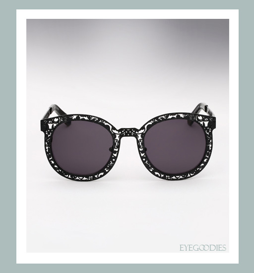 Karen Walker Super Duper Critter Sunglasses - Black