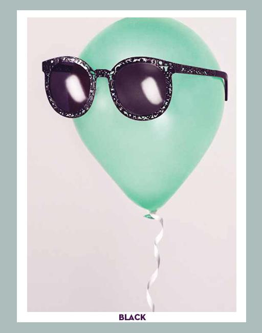 Karen Walker Super Duper Critter Sunglasses - Black