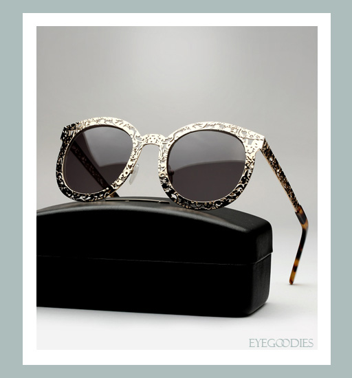 Karen Walker Super Duper Critter Sunglasses - Gold