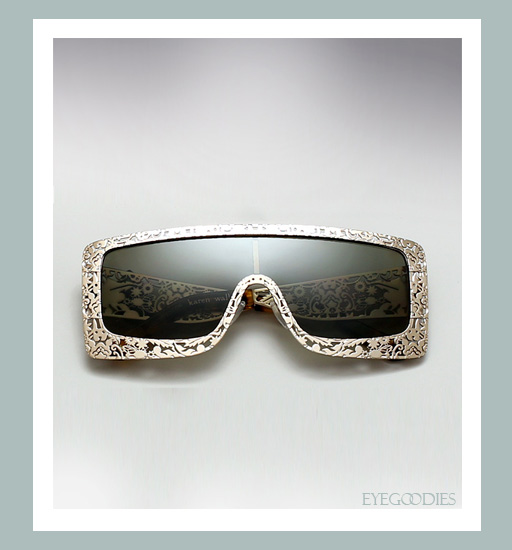 Karen Walker The Butler Critter Sunglasses - Gold