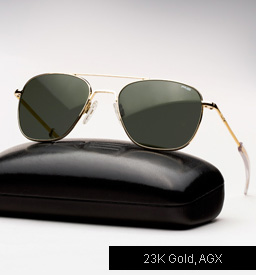 Randolph Engineering Aviator Sunglasses -23K Gold, AGX Lenses
