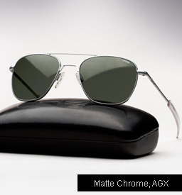 Randolph Engineering Aviator Sunglasses -Matte Chrome, AGX lenses