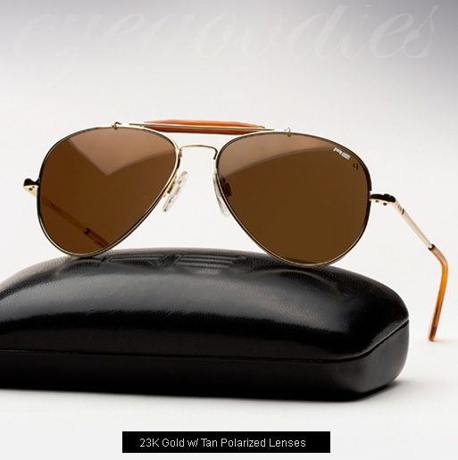 Randolph Engineering Sportsman Sunglasses - 23K Gold, Tan Polarized lenses