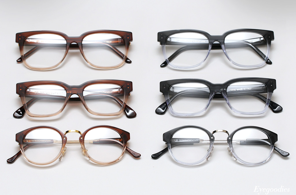 Super Brown Fade and Super Grey Fade Eyeglasses