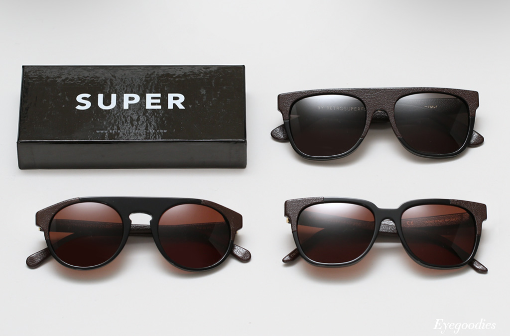 Super Leather & Acetate Sunglasses